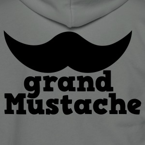 grand mustache  Zip Hoodies/Jackets - Unisex Fleece Zip Hoodie by American Apparel