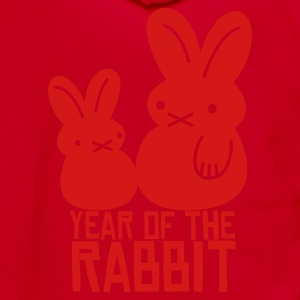year of the rabbit bunny cute NEW YEAR Zip Hoodies/Jackets - Unisex Fleece Zip Hoodie by American Apparel