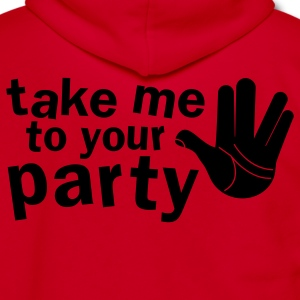 take me to your party nerd shirt Zip Hoodies/Jackets - Unisex Fleece Zip Hoodie by American Apparel