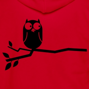 simple owl on a branch cute!  Zip Hoodies/Jackets - Unisex Fleece Zip Hoodie by American Apparel