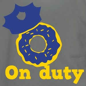 on duty doughnut police hat Zip Hoodies/Jackets - Unisex Fleece Zip Hoodie by American Apparel