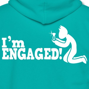 man on bended knee im engaged!  Zip Hoodies/Jackets - Unisex Fleece Zip Hoodie by American Apparel