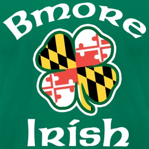 Baltimore Bmore Irish T-Shirts - Men's T-Shirt by American Apparel
