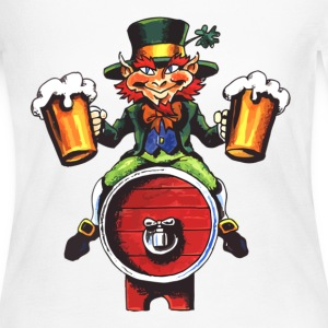 Drinking Leprechaun - Women's Long Sleeve Jersey T-Shirt