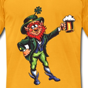 Leprechaun Cheers - Men's T-Shirt by American Apparel