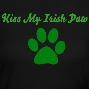 Kiss My Irish Paw - Women's Long Sleeve Jersey T-Shirt