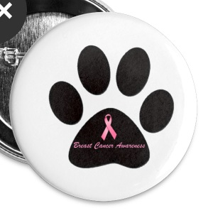 Breast Cancer Awareness Button - Large Buttons