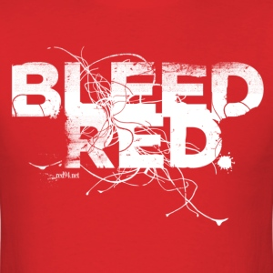Bleed Red - White Std. - Men's T-Shirt