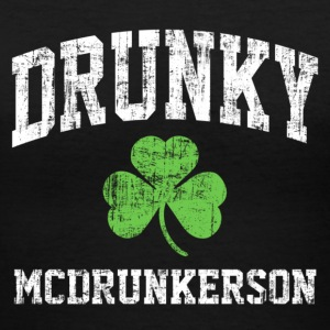Drunky Mc Women's T-Shirts - Women's V-Neck T-Shirt