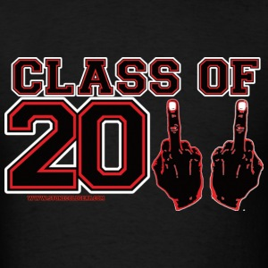 class 2011 finger FU Black and Red T-Shirts - Men's T-Shirt