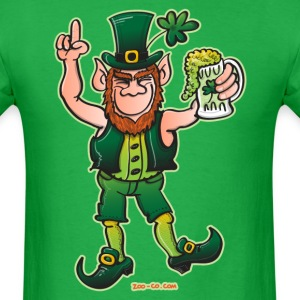 Saint Patrick's Day Leprechaun Drinking Beer T-Shirts - Men's T-Shirt
