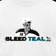 Design ~ Bleed Teal Patty Men's White AA Tee