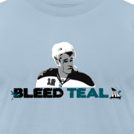 Design ~ Bleed Teal Patty Men's Light Blue AA Tee