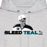 Design ~ Bleed Teal Patty Men's Ash Hoodie