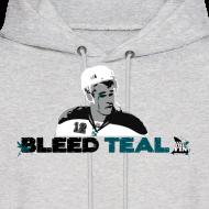 Design ~ Bleed Teal Patty Men's Ash Hoodie