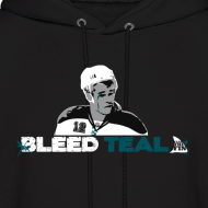 Design ~ Bleed Teal Patty Men's Black Hoodie
