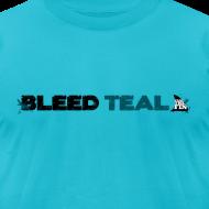 Design ~ Bleed Teal Men's Teal AA Tee