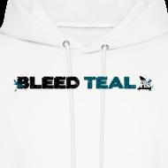 Design ~ Bleed Teal Men's White Hoodie