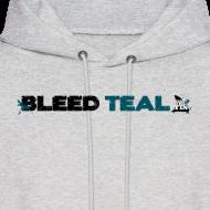 Design ~ Bleed Teal Men's Ash Hoodie