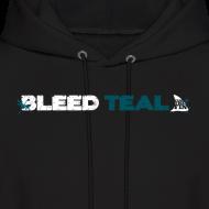 Design ~ Bleed Teal Men's Black Hoodie