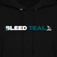 Design ~ Bleed Teal Women's Black Hoodie