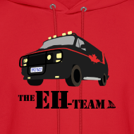 Design ~ The Eh Team Men's Red Hoodie