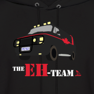 Design ~ The Eh Team Men's Black Hoodie