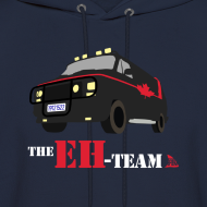 Design ~ The Eh Team Men's Navy Hoodie