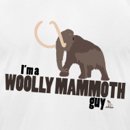 Design ~ Wooly Mammoth Guy Men's White AA Tee