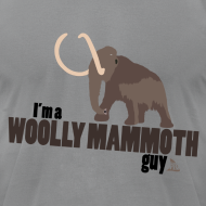 Design ~ Wooly Mammoth Guy Men's Slate AA Tee