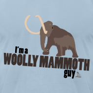 Design ~ Wooly Mammoth Guy Men's Sky Blue AA Tee