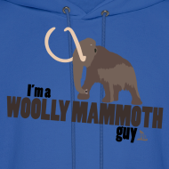 Design ~ Wooly Mammoth Guy Men's Navy Blue Hoodie