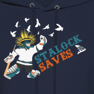 Design ~ Stalock Saves Men's Navy Hoodie