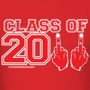 class2011finger_redwht T-Shirts - Men's T-Shirt