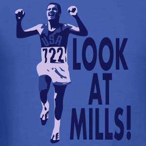 Look at Mills! Men's, Blue (3-color print) - Men's T-Shirt