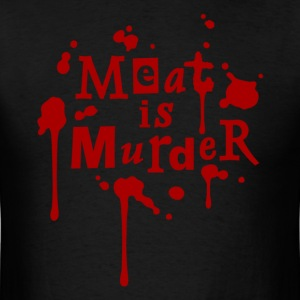 MEAT IS MURDER! Mens Black - Men's T-Shirt