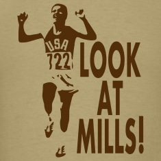 Look at Mills! Men's, Khaki (1-color print)