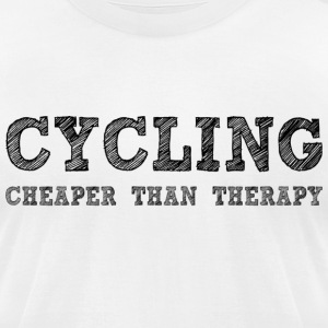 Cycling Cheaper Than Therapy T-Shirts - Men's T-Shirt by American Apparel