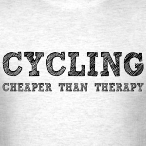 Cycling Cheaper Than Therapy T-Shirts - Men's T-Shirt