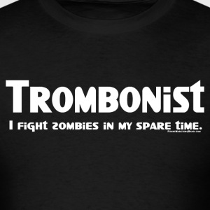 Trombonist Zombie Fighter - Men's T-Shirt