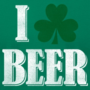I Shamrock Beer - Men's T-Shirt by American Apparel