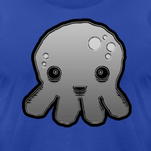 Gray Sea Creature - Men's T-Shirt by American Apparel