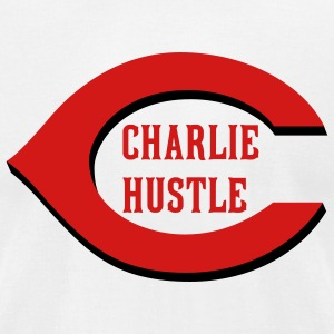 Charlie Hustle Home (American Apperal) - Men's T-Shirt by American Apparel