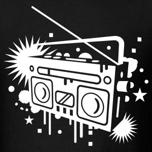 Radio cassette recorder graffiti T-Shirts - Men's T-Shirt