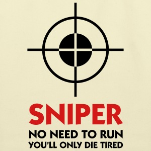 Sniper No Need To Run (2c) Bags  - Eco-Friendly Cotton Tote