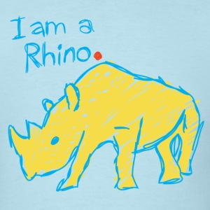 I am a rhino. Period. - Men's T-Shirt