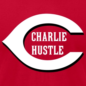 Charlie Hustle Alt (American Apperal) - Men's T-Shirt by American Apparel
