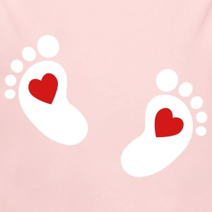 baby feet heart Baby Bodysuits - Long Sleeve Baby Bodysuit