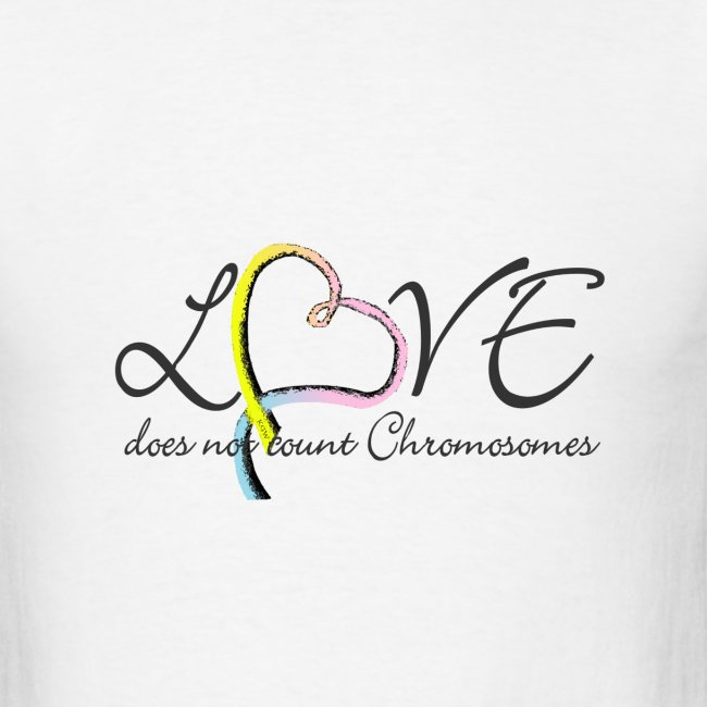 Rainbow colored heart Love does not count chromosomes