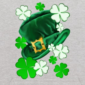 Irish Felt Hat and Shamrocks - Kids' Hoodie